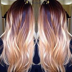 23-Copper & Blonde Balayage auf Long Hair