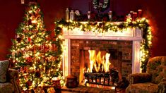 27 awesome fireplace images christmas fireplace christmas music rh pinterest com