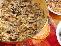 Farrotto (Farro Risotto) with Mushroom Medley [webicurean.com] Compare to Guy Fieri's version: http://www.foodnetwork.com/recipes/guy-fieri/wild-mushroom-and-sun-dried-tomato-farrotto-farro-risotto-recipe/index.html