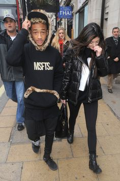 Jaden Smith and Kylie Jenner - Kylie Jenner and Jaden Smith at Cafe Nero in London