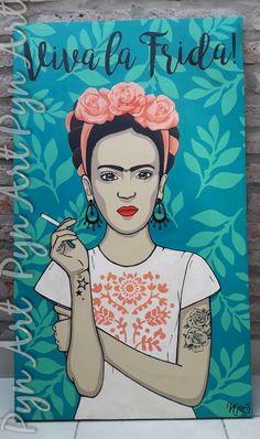 Frida Kahlo Portraits, Kahlo Paintings, Diego Rivera, Cute Images, Art Lessons, Pop Art, Doodles, Girly, Art Prints