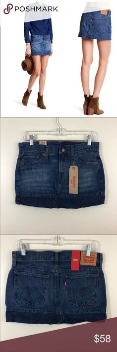 a67176f5cb Levi s Seamed Denim Mini Skirt. Size 26 NWT Levi s Seamed Denim Mini Skirt.  Color