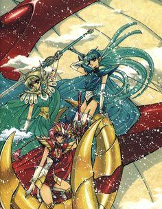 Every kind of nerdery imaginable. Manga Anime, Anime Art, Magic Knight Rayearth, Haruhi Suzumiya, Fantasy Warrior, Cardcaptor Sakura, Anime Fantasy, Cool Posters, Anime Comics