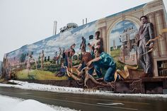 dig this Omaha mural, which can be seen from TD Ameritrade Park - a great calling card for Omaha