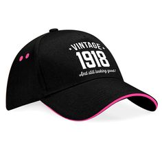100th Birthday Gift Idea Present For Men Women Diamond Vintage 1919 Hat Baseball Cap Keepsake