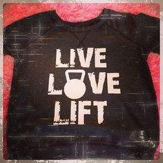 LIVE LOVE LIFT Kettlebell Custom Tshirt Vinyl Design Heat Transfer on Etsy, $20.00