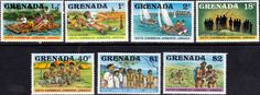 Grenada 1977 Scout Jamboree Set Fine Mint SG 878 84 Scott 805 11 Other West Indies and British Commonwealth Stamps HERE!