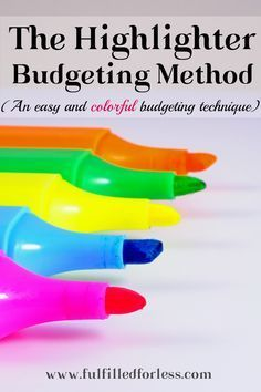 The Highlighter Budgeting Method – How to Budget the Easy Way! The Highlighter Budgeting Method – How to Budget the Easy Way!,saving Highlighter budgeting–the easy (and dare I say fun?) method that is perfect. Budgeting Worksheets, Budgeting Finances, Budgeting Tips, Budgeting System, Monthly Expenses, Budget Binder, Budget Spreadsheet, Drawing Lessons, Saving Ideas