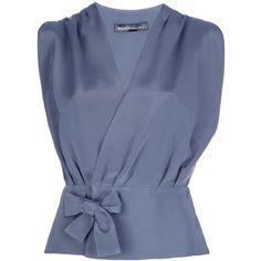 BALENCIAGA wrap blouse