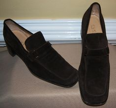 Women's Gucci Suede Loafers with Heel - Size 8 in Lewis' Garage Sale in Fayetteville , GA for $50.00.