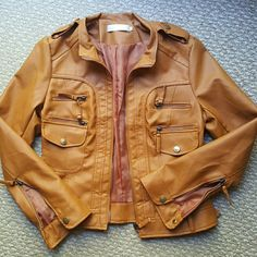 Ya Pei ButterscotchVegan Leather Jacket Sz L NWOT So so cute. Too small for me. Seriously great deal!! 80%20 Jackets & Coats