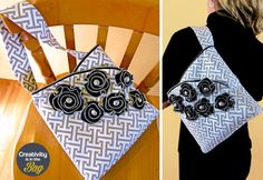 Creativity is in the Bag: Bucket Purse with Zipper Tape Accents | Sew4Home