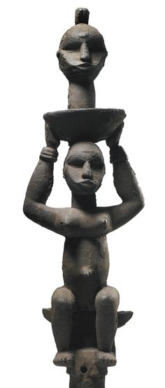 Ethnic group : BENDE IGBO Country : Nigeria Period : Late century Material : Wood and polychromy Height : cm Provenance : Formerly in Carl Otto-Hulten's collection, painter member of. Afrique Art, African Sculptures, Out Of Africa, African Masks, African Beauty, Tribal Art, Oeuvre D'art, Headdress, Modern Art
