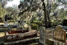 Marys GA Camden County Historic Oak Grove Cemetery Moss Draped Oak Trees Brick Coping Old Graves Picture Image Photo Copyright Brian Brown Photographer Vanishing Coastal Georgia USA 2012 Old Cemeteries, Graveyards, Camden County, Cumberland Island, Oak Grove, Georgia Usa, Old Churches, Pictures Images, Bing Images
