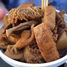 Braised beef tripe. Part of the Richmond night market in Canada