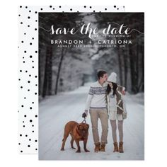 #weddinginvitation #weddinginvitations (White Whimsical Script Photo Save The Date Card) #Black #Bride #Calligraphy #Chalkboard #Country #Engaged #Engagement #Groom #Horizontal #Lettering #Modern #Overlay #Patterns #Photo #PolkaDots #Portrait #Post #Pretty #Retro #Rustic #SaveTheDate #Script #Snow #Stylish #Trendy #Typography #Vintage #Wedding #Whimsical #Whimsy #White is available on Custom Unique Wedding Invitations  store  http://ift.tt/2aGt0eY