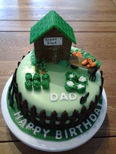 Garden shed & allotment cake by Tracy Browning