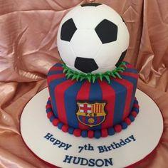 Soccer Birthday Cakes, Ball Birthday, 75th Birthday, First Birthday Cakes, Soccer Cake Pops, Soccer Ball Cake, Barcelona Cake, Barcelona Party, Soccer Theme Parties