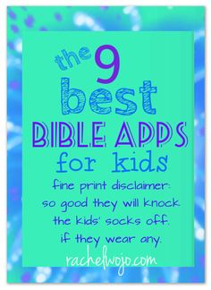 THE best Bible Apps for Kids available! So good they'll knock the socks off your kiddos!