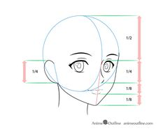 Face Proportions Drawing, Face Drawing Reference, Drawing Heads, Drawing Poses, Drawing Drawing, Anatomy Reference, Pose Reference, Drawing Tips, Figure Drawing
