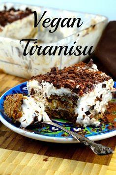 May I Have That Recipe | Vegan Tiramisu | http://mayihavethatrecipe.com