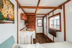 A 98-square-feet tiny house, currently listed for sale at $15,000.