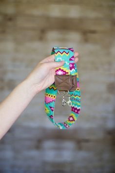 DSLR Camera Strap  Sea Green Pink and Yellow Tribal by ImaniStudio