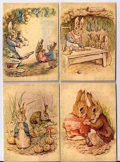 Beatrix Potter note cards--Love vintage Beatrix potter!!!