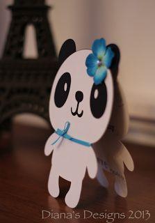 Panda Bear Shape Card using Cricut Create a Critter