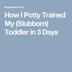 How I Potty Trained My (Stubborn) Toddler in 3 Days