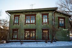 Lindas casas de madeira tradicionais