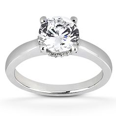 14K White Gold .06Ct Diamond Solitaire Engagement Ring CJSER103  $600.00