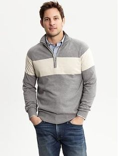 Banana Republic... even though I'm not a super big fan of the white strip, I think you'd pull this off well