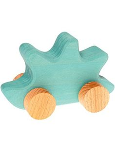 Grimm's Baby's First Moving Animal - Classic Wooden European Push Toy, Hedgehog ❤ Grimm's Spiel and Holz Design