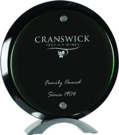 "Personalized 8.5"" Round Black Acrylic Standup Award - BRAND NEW by ULEKstore on Etsy"