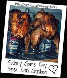 Skinny Game Day Beer Can Chicken  on MyRecipeMagic.com