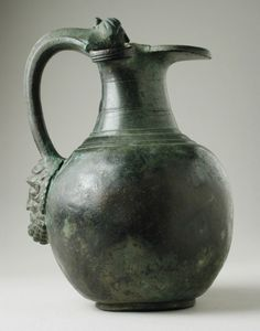 Trefoil Oinochoe with Etruscan Handle LACMA Central Italy, Etruria, Roman, century B. Bronze Height of handle: 5 in. cm) Gift of Varya and Hans Cohn Ancient Rome, Ancient History, Art History, Christian Marclay, Ancient Buildings, Ancient Architecture, Whitney Museum, Museum Exhibition, Ancient Artifacts