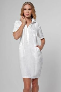 Linen Collared Golf Dress With Hidden Pockets Linen Dresses, Casual Dresses, Fashion Dresses, Summer Dresses, Woman Dresses, The Dress, Dress Skirt, Golf Attire, Spring Fashion Trends
