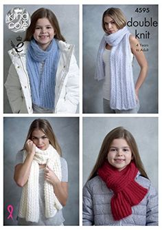 ce8d21dbc King Cole Womens   Girls Double Knitting DK Pattern for Shawls   Scarves  Embrace DK by King Cole - I Crochet World
