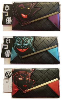 Disney Villains Envelope Wallet Bundle Featuring Maleficent Ursula and Evil Queen * Find out more about the great product at the image link. Evil Disney, Disney Nerd, Disney Fun, Disney Style, Disney Magic, Disney Handbags, Disney Purse, Disney Souvenirs, Disney Outfits