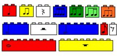 Centers: Lego Music | Elementary Music Resources Love this idea, especially for the boys.  Just wondering if the legos might get feet and walk off on their own.