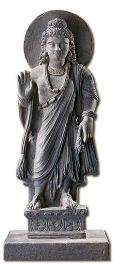 a comparison of two sculptures standing bodhisattva maitreya buddha of the future and bodhisattva av Vis 21b japanese art exam study play title: jar  standing medicine buddha (yakushi) period: heian (799)  second future buddha - after maitreya buddha.