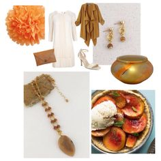 It's funny how the colors of some stones remind me of food, like this Laguna Agate pendant necklace that reminds me of peaches 'n cream. rock2gems.com #lagunaagate #peachagate #peachesncream #rock2gems #peachandgold