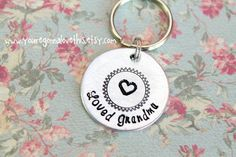 Hand Stamped Loved Grandma Key Chain by youregonnalovethis on Etsy mother's day