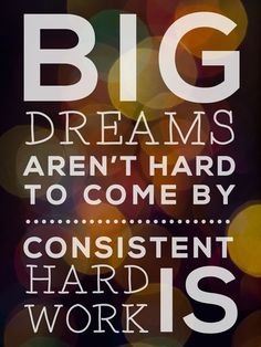 Big Dreams Aren't Hard to Come By, Consistent Hard Work Is: a quote by Regina