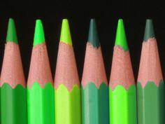 green colored pencils
