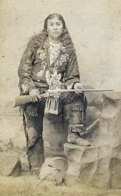 """""""Mountain Panther"""" Warm Spring Indian Chief ca 1890s"""