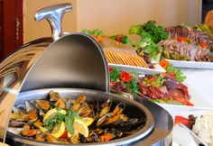 The popular buffet dinner at Sossusvlei Lodge - Just some of the starters to choose from...