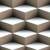 optique art : Géométrique motif transparente de cubes empilées