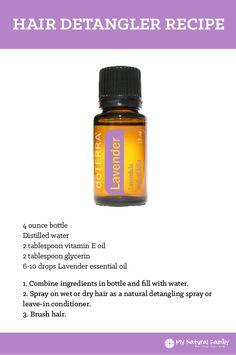 doTERRA Hair Detangler Recipe